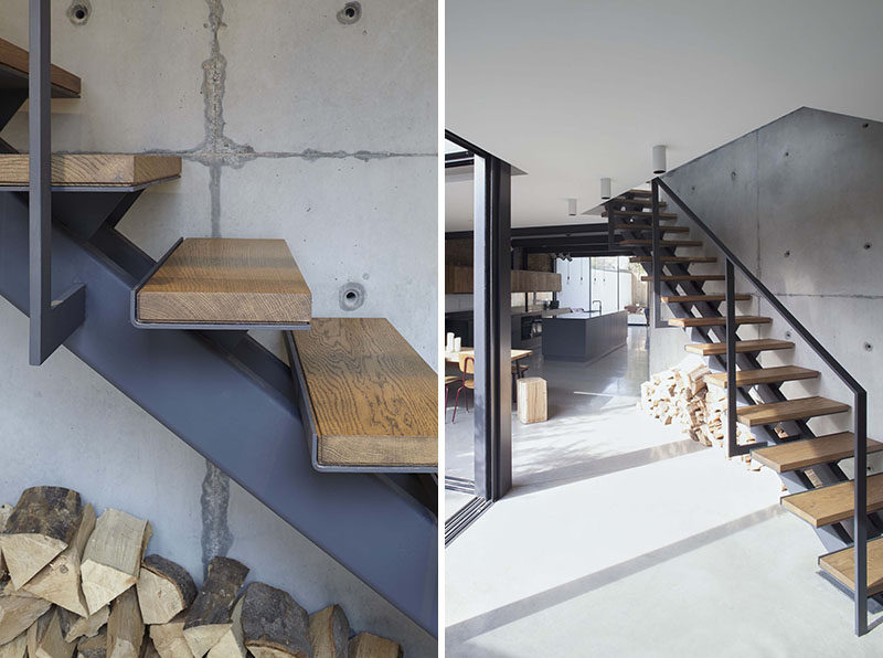 Stairs Design Idea ? Combine Wood And Metal For A Warm Industrial Look