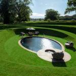 This sunken swimming pool is like a secret hideaway
