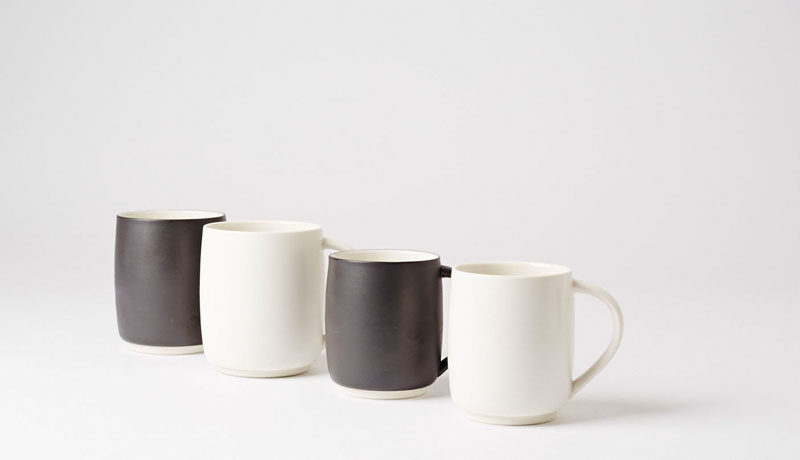 Gift Ideas For Tea Drinkers // With a matte finish and available in two sizes, these mugs are what minimalist tea lovers dreams are made of.