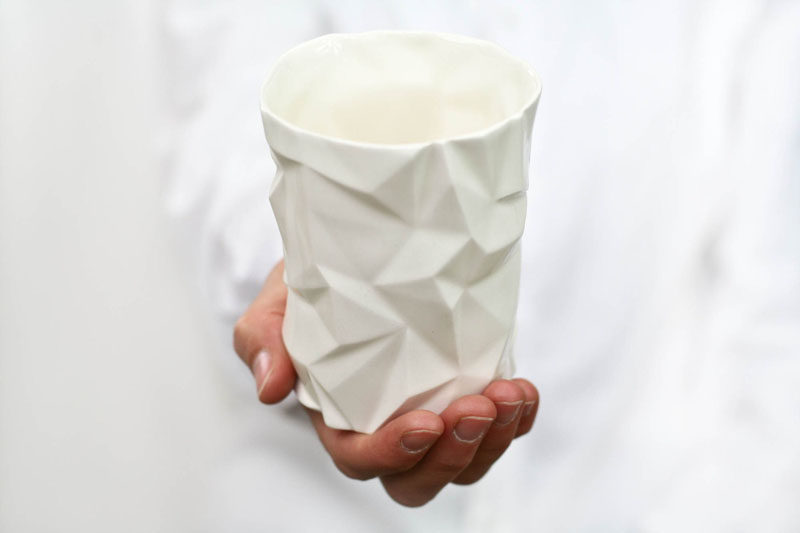 Gift Ideas For Tea Drinkers // A geometric porcelain mug brings the age old tea drinking tradition into the 21st century.