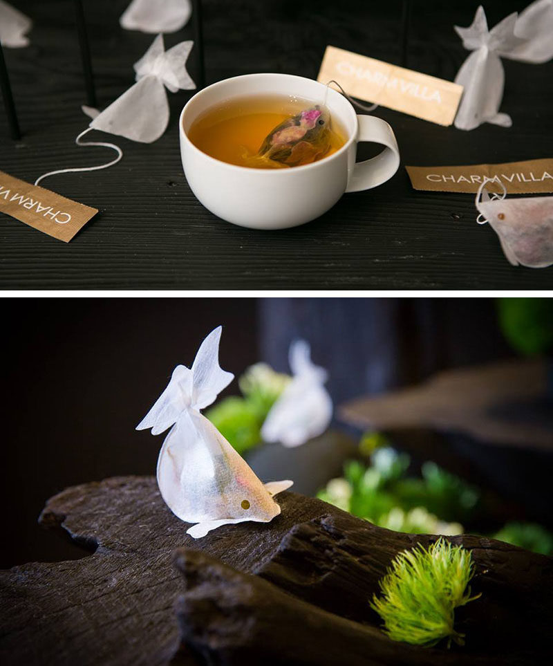 Gift Ideas For Tea Drinkers // These fish shaped tea bags come to life when immerse in hot water and you keep you company while you sip on your daily brew.