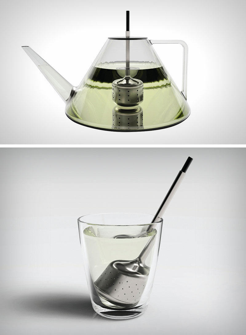 Gift Ideas For Tea Drinkers // Never worry about leaving your infuser in too long with this nifty gadget. Once you've achieved the perfect flavor, simply press down on the top of the infuser to seal the holes to prevent your tea from becoming bitter or over flavored.