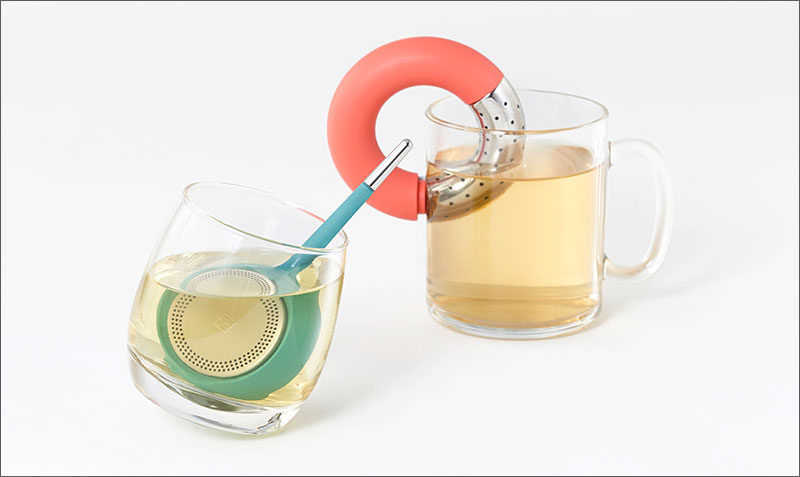 Gift Ideas For Tea Drinkers // Brew tea in style using these matte colored infusers designed for easy stirring and convenient clinging.