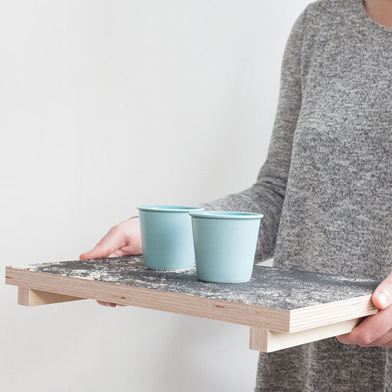 Gift Ideas For Tea Drinkers // Enjoy your cup of tea from the comfort of your bed, your floor, your living room, or anywhere really, with this tea tray.