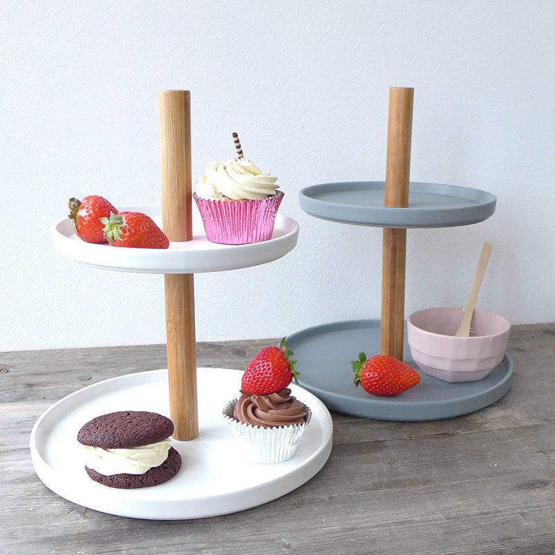 Gift Ideas For Tea Drinkers // Take your tea party to a whole new level by serving pastries on a contemporary cake stand.