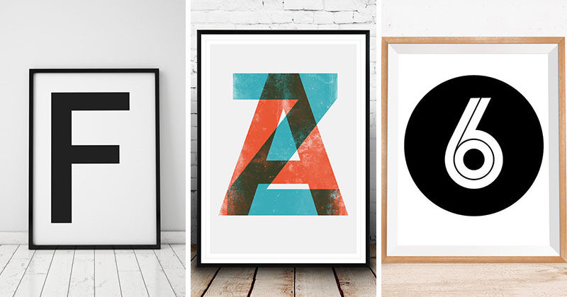 Gift Idea – Typography Art Prints For People Who Love Fonts, Letters & Symbols