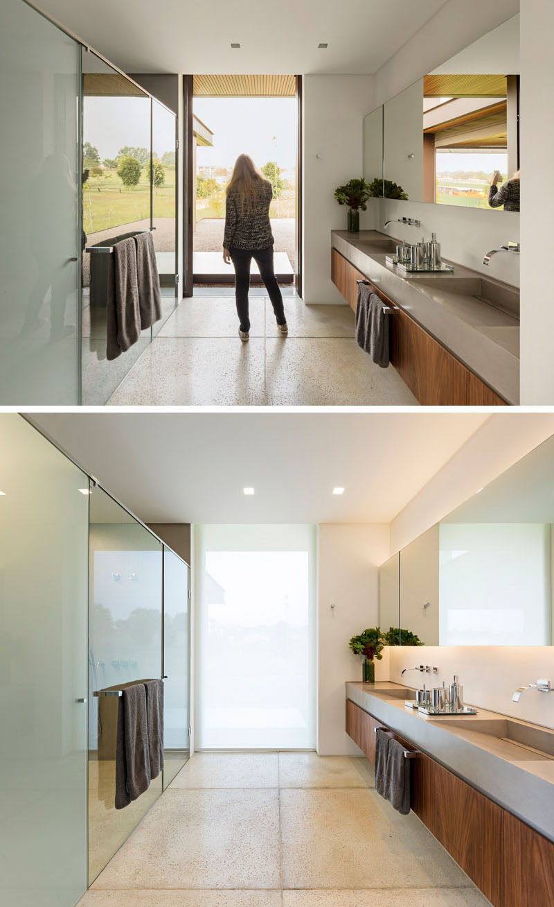 7 Contemporary Ideas For Window Coverings // FROSTED GLASS -- Frosted glass lets you enjoy the natural light coming through your window but ensures that nobody will be able to see into your home. You can frost an entire window or you can partially frost it so you can still enjoy the views outside.
