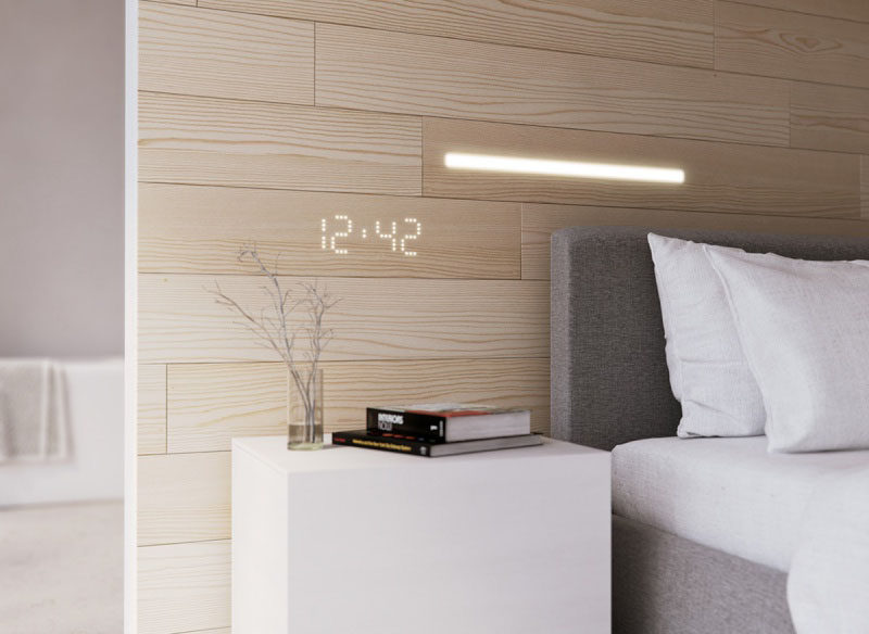 white panel walls these wall panels have lights embedded within them contemporist