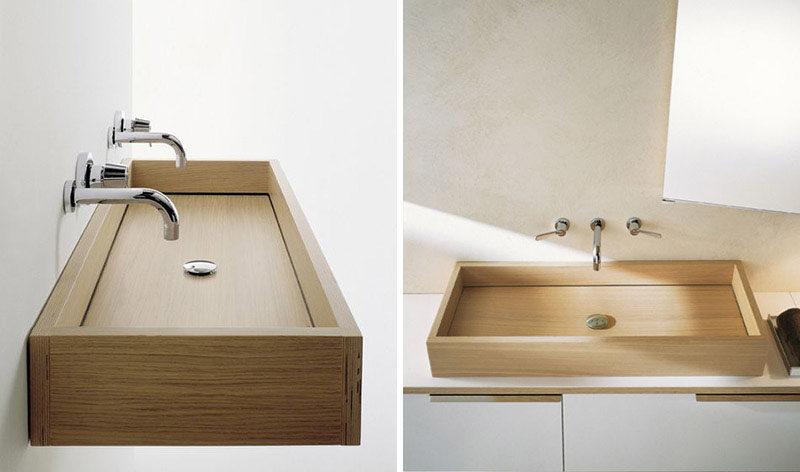 Bathroom Design Idea - Install A Wood Sink For A Natural Touch on natural lighting bathroom, natural wood bathroom, natural bathroom products, natural stone bathroom, natural bathroom design ideas, natural tile bathroom,