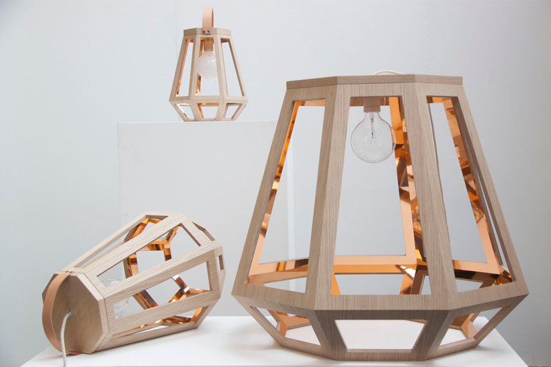 15 Wood Pendant Lights That Add A Natural Touch To Your Decor // This line of wood pendant lights was inspired by traditional Dutch houses and mining lamps.