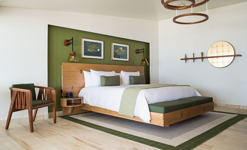 Bedroom Design Idea - Use A Single Accent Color For A Cohesive Look