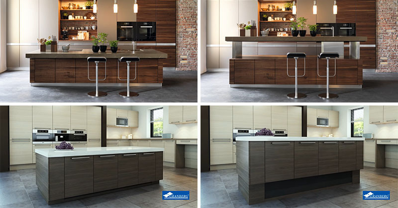Kitchen design idea adjustable height kitchen island for Kitchen island height