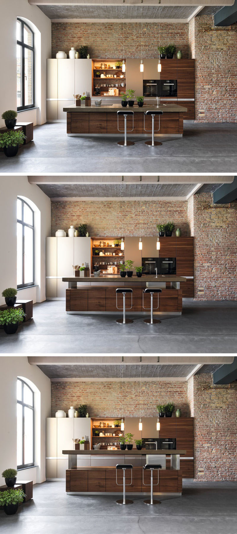 Kitchen Design Idea - Adjustable Height Kitchen Island