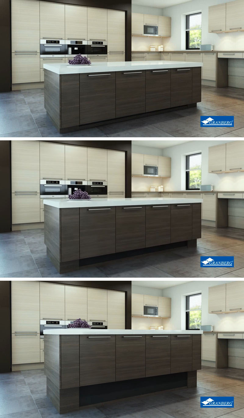 Kitchen Design Idea - Install An Adjustable Height Kitchen Island