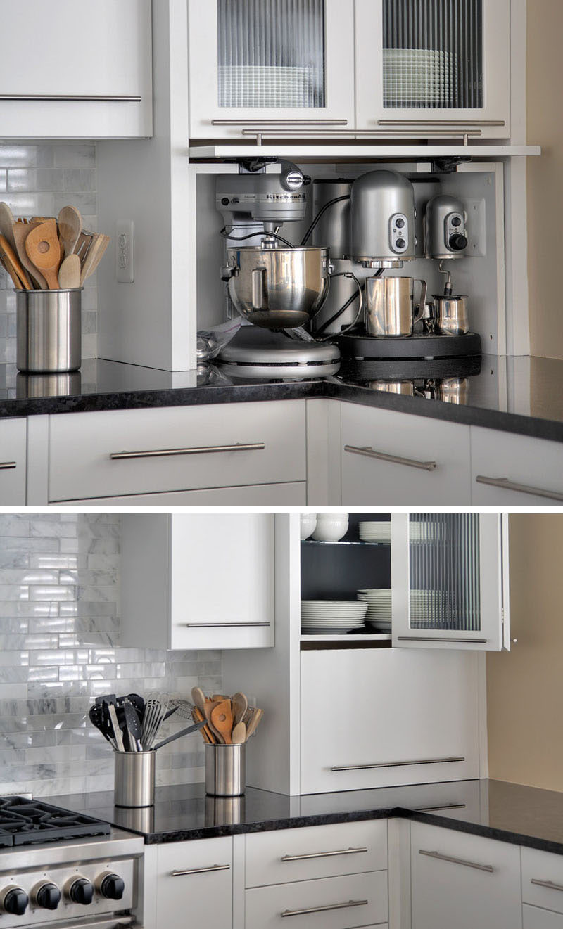 Kitchen Design Idea   Store Your Kitchen Appliances In A Dedicated Appliance  Garage // This