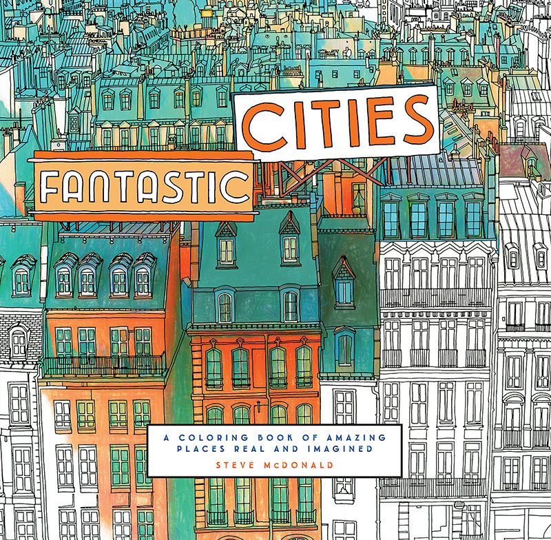 40 Awesome Gift Ideas For Architects And Interior Designers // A famous cities coloring in book.