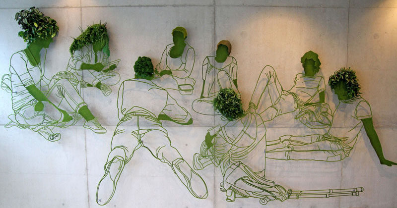 Plant Wall Art this wall art is made from steel and plants | contemporist