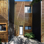 These Townhouses Feature A Creative And Artistic Wood Exterior