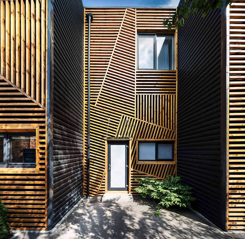 These Townhouses Feature A Creative And Artistic Wood Exterior ...