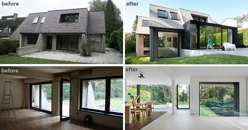 Before And After The Renovation And Extension Of A