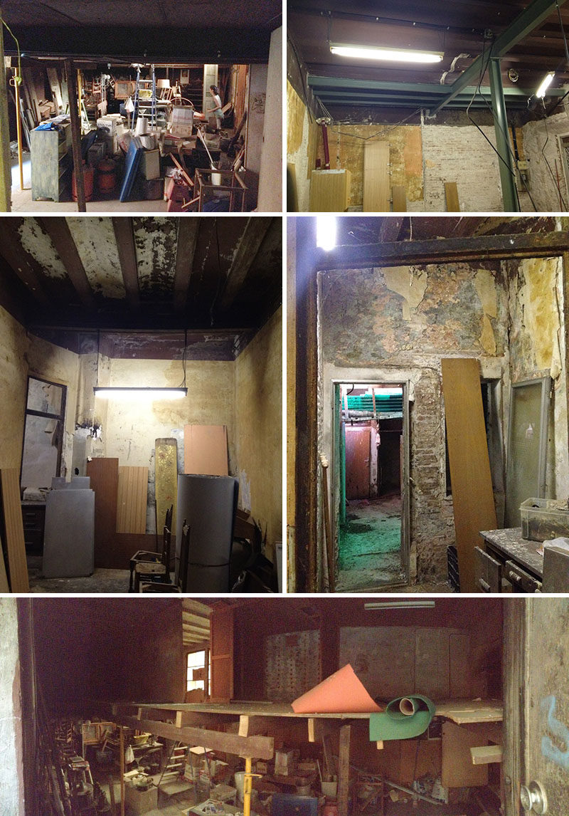 The Before Photos // FFWD Arquitectes have recently completed the renovation of an old carpenter's workshop in Barcelona, Spain, into a two spaces, a guest suite / studio space and the second, the main living apartment.