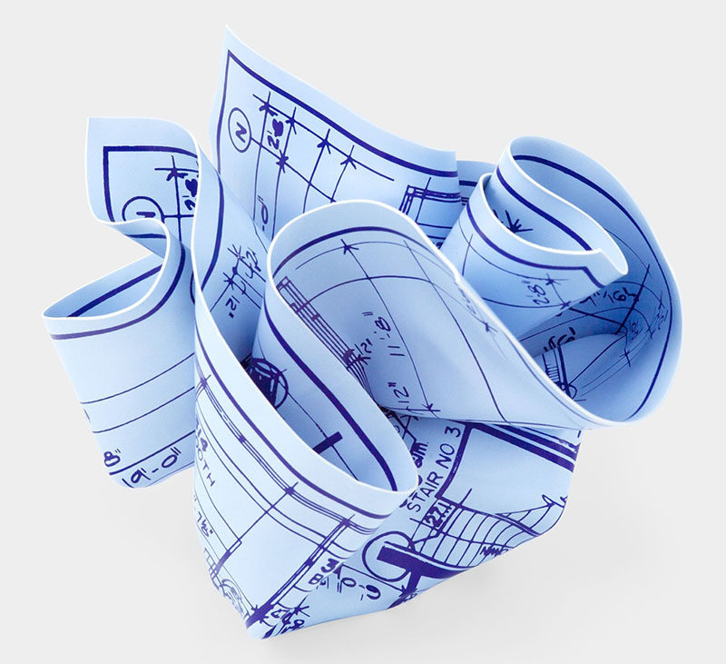 40 Awesome Gift Ideas For Architects And Interior Designers // A blueprint paperweight.