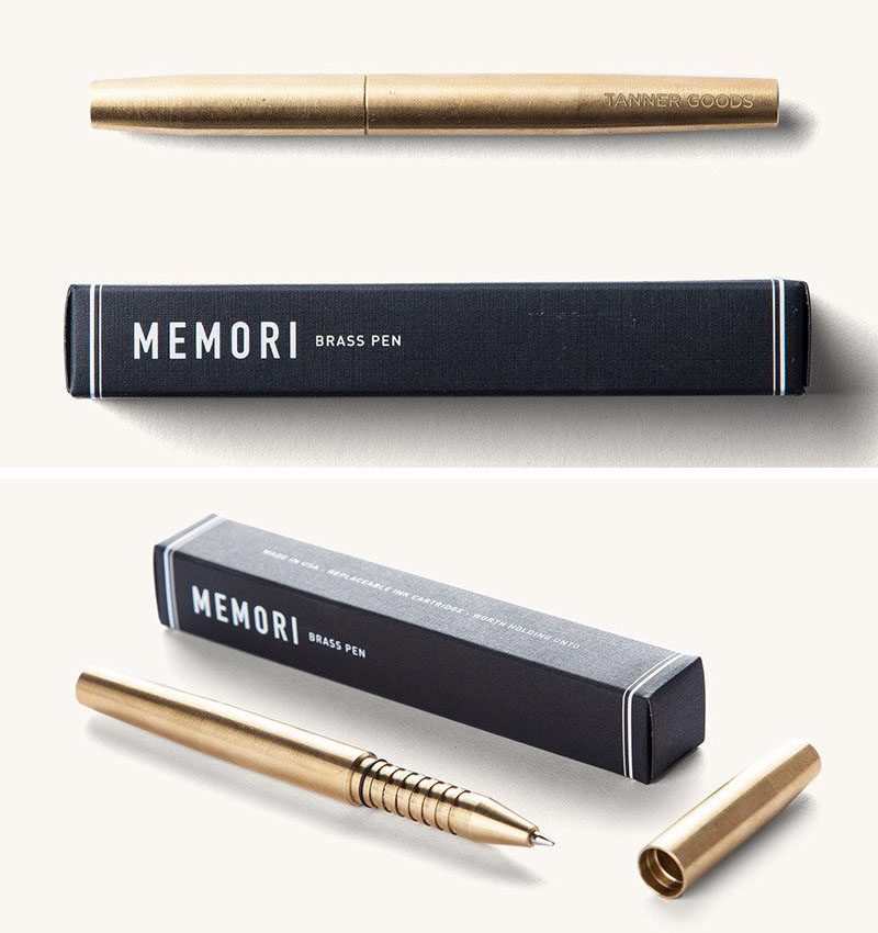 40 Awesome Gift Ideas For Architects And Interior Designers // An Elegant  Brass Writing Pen