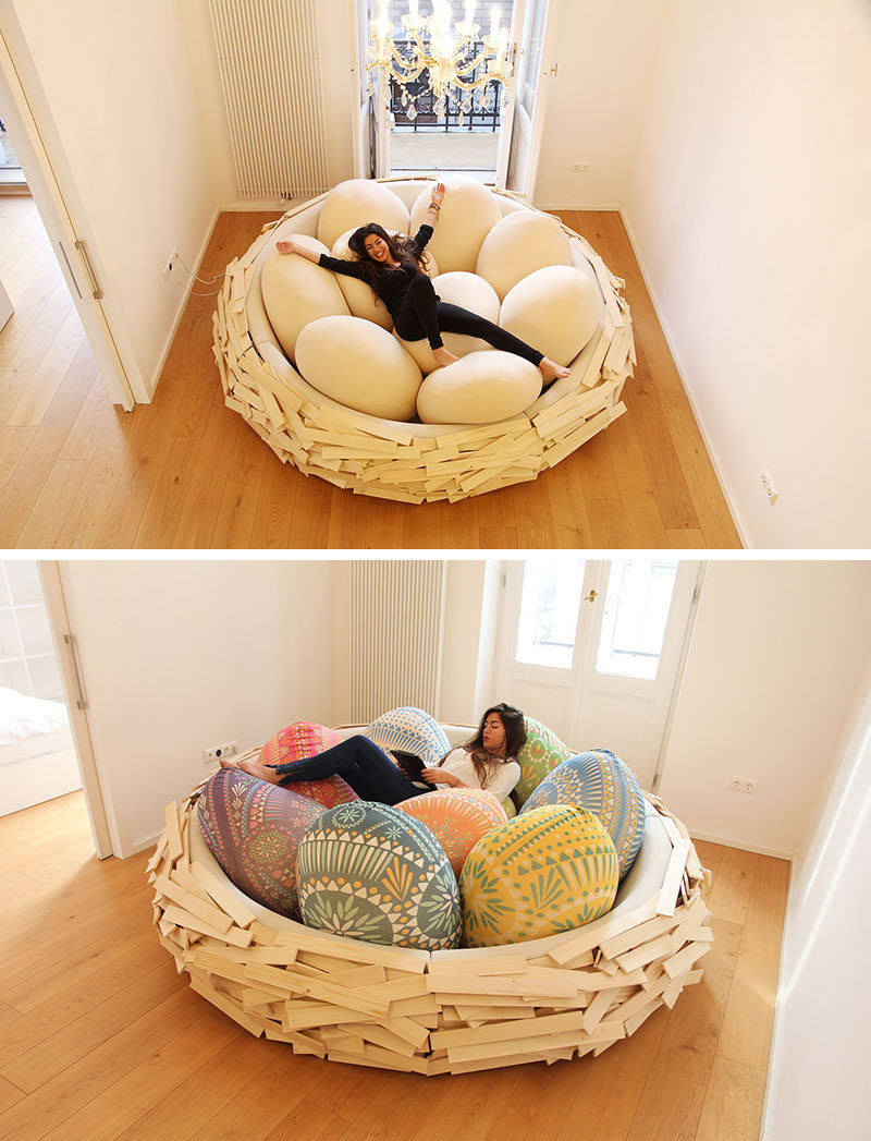 12 Comfy Chairs Perfect For Relaxing In // Curl Up Among The Eggs In This