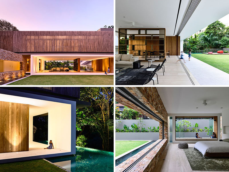 Architecture firm ongong have designed this home in singapore that makes the most of indoor