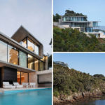 This Concrete House Sits Above A Rocky Cliff Overlooking The Ocean
