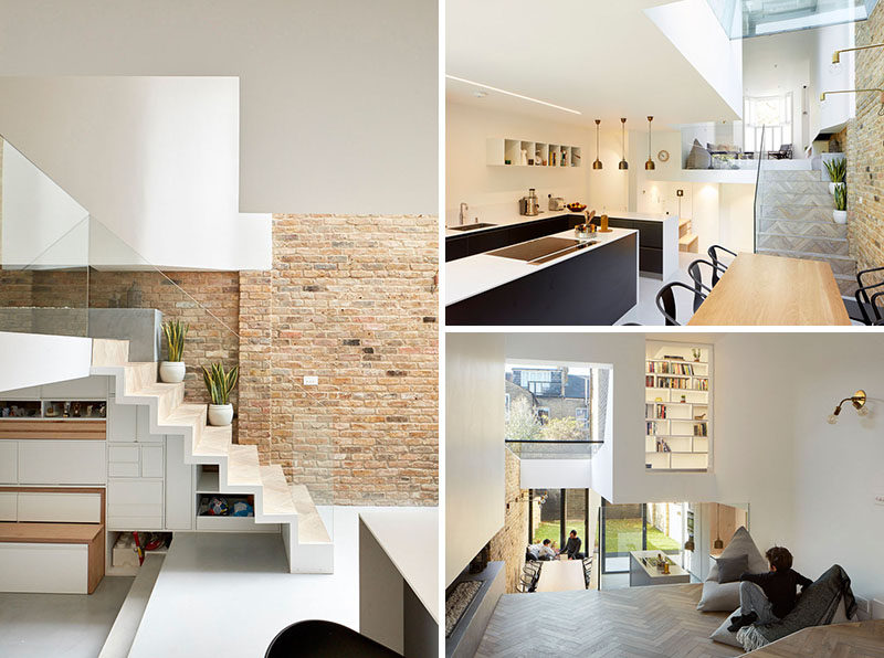 This British Home Has Been Renovated To Include A Modern Split Level  Interior.