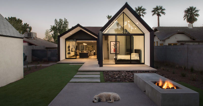 A contemporary update and extension for a 1930s home in Phoenix, Arizona