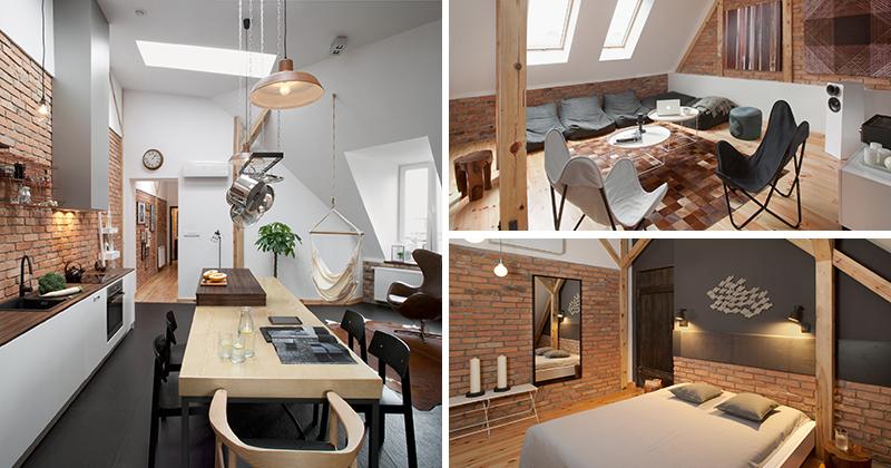 This contemporary loft apartment was built inside a 19th for Interior design 75063
