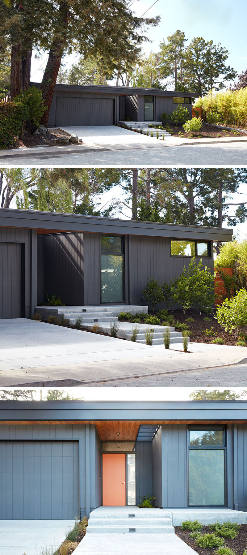 This new home in San Mateo Highlands, California, has been designed by Klopf Architecture as a replacement house for an original Eichler house that burnt down.