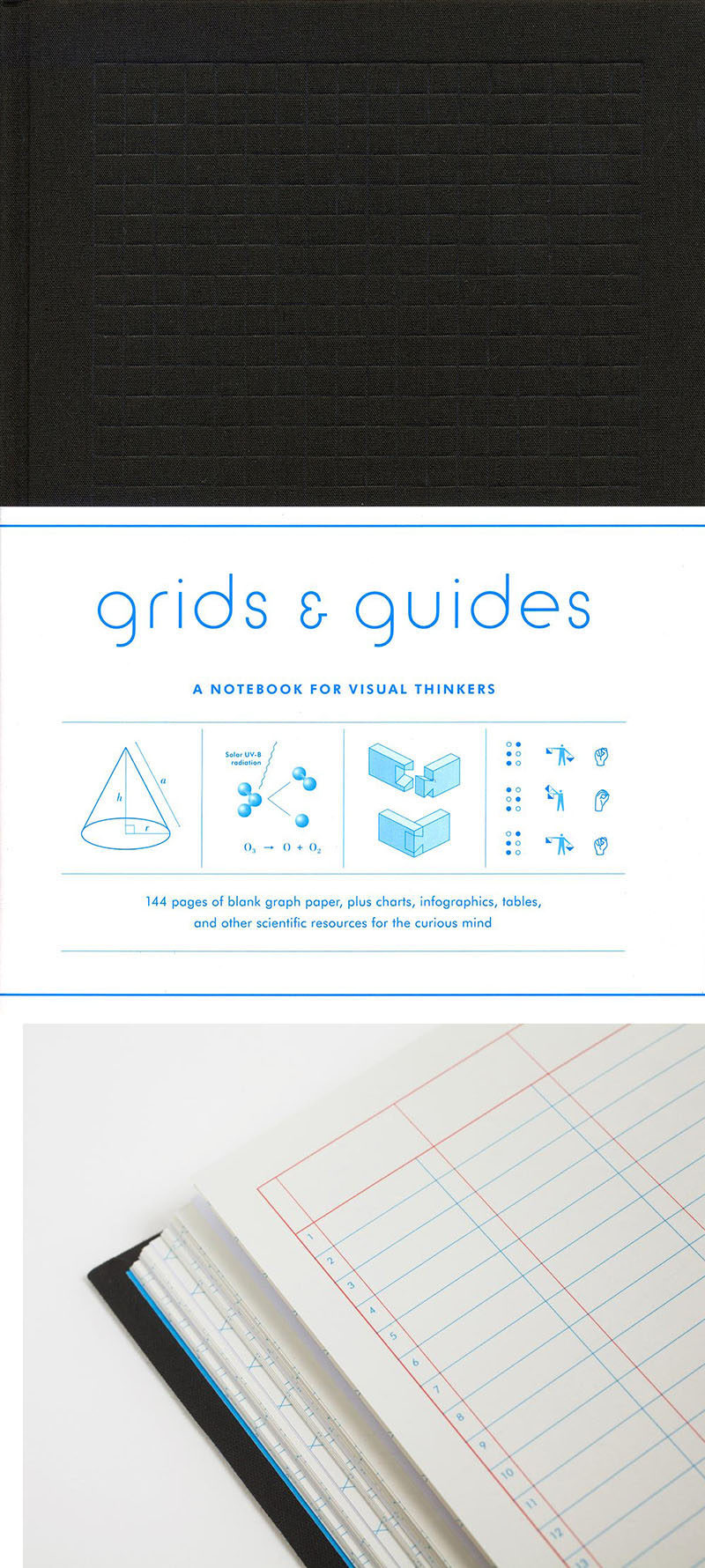 40 Awesome Gift Ideas For Architects And Interior Designers // A notebook full of different grid paper.