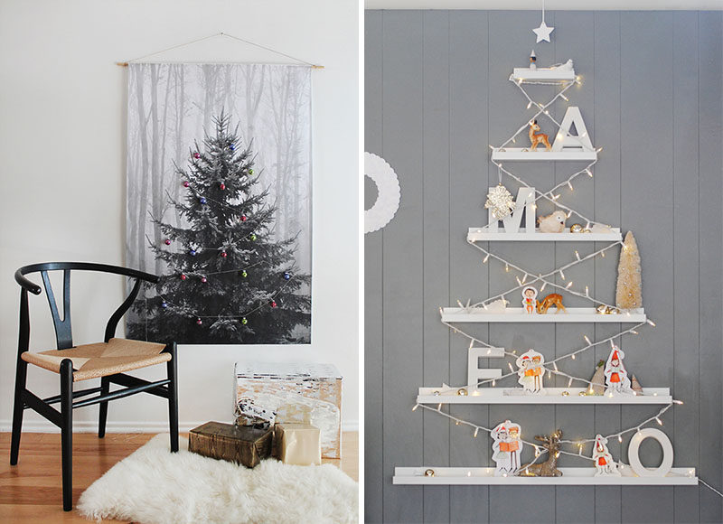 Christmas Decor Ideas - 14 DIY Alternative Modern Christmas Trees //  Creating a Christmas tree