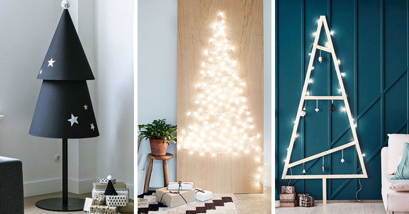 christmas decor ideas 14 diy alternative modern christmas trees - Modern Christmas Decorating Ideas