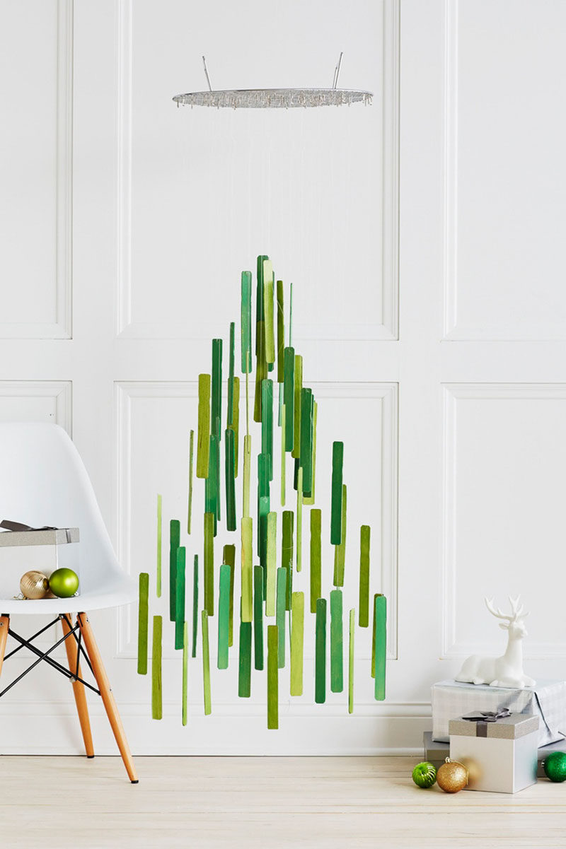 Modern christmas decor - Christmas Decor Ideas 14 Diy Alternative Modern Christmas Trees Paint Stir Sticks Have