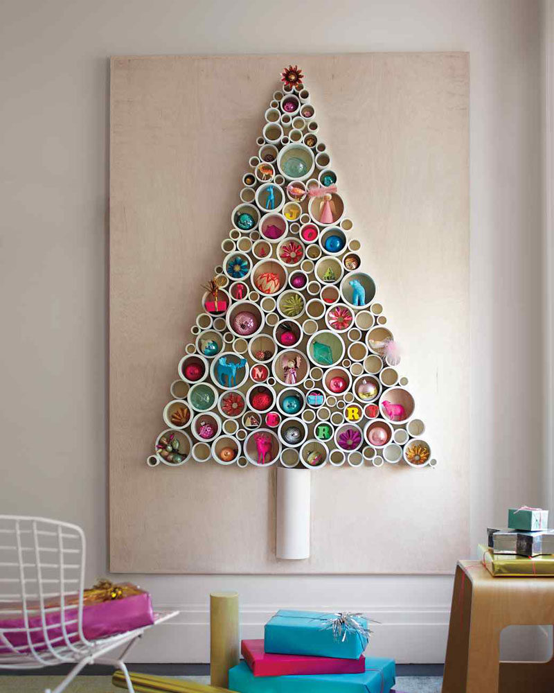 christmas decor ideas 14 diy alternative modern christmas trees thin slices of pvc