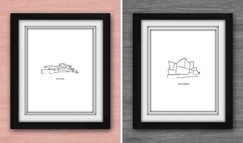 40 awesome gift ideas for architects and interior designers minimal art prints of famous - Ideas For Design
