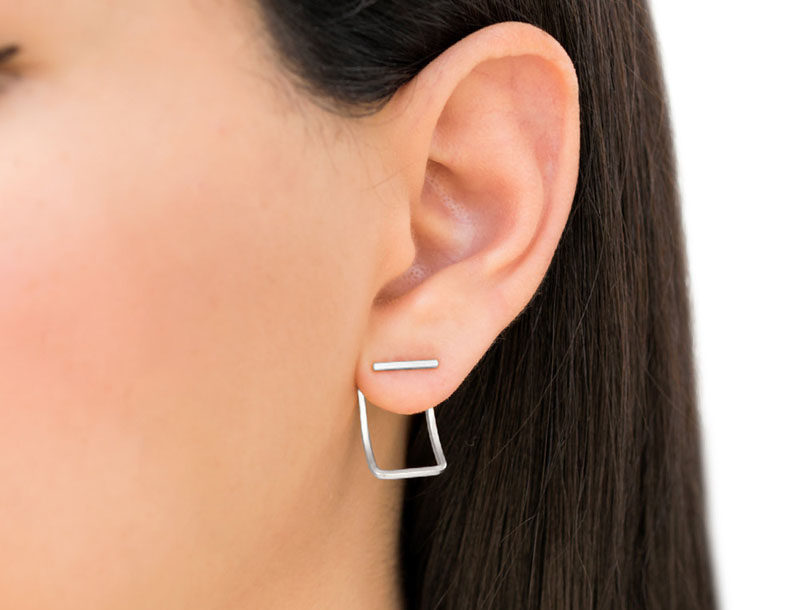 The Ultimate Gift Guide For The Modern Woman (40 Ideas!) // Simple geometric earrings will always go over well.#ModernEarrings #MinimalistEarrings