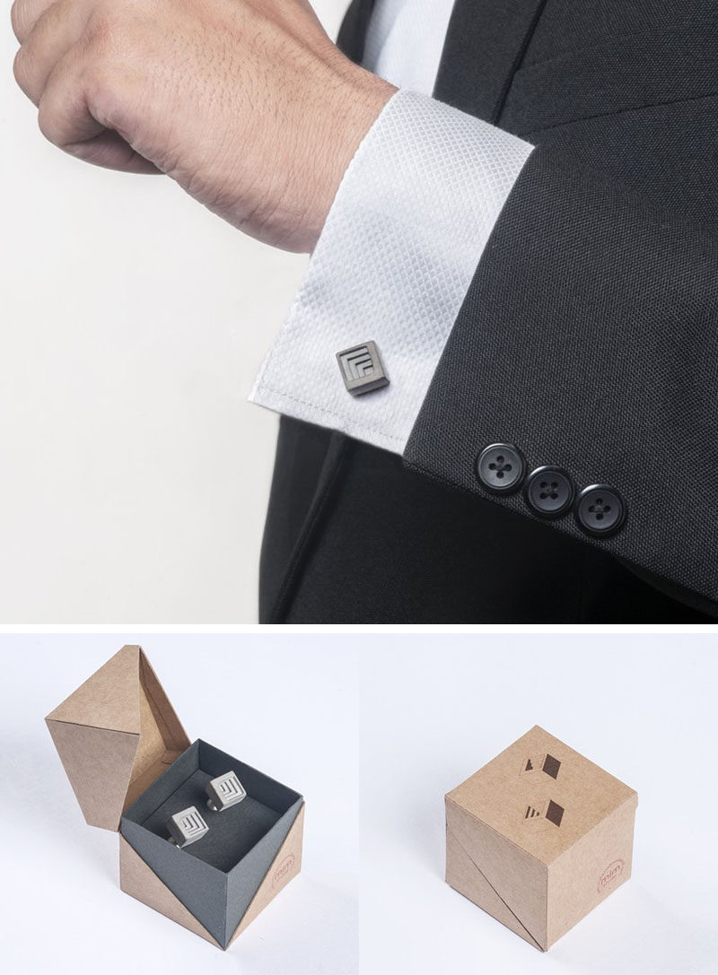 40 awesome gift ideas for architects and interior designers concrete cuff links show that