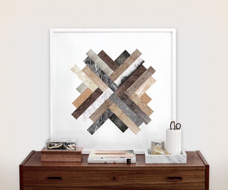 6 Ideas For Including Herringbone Patterns Into Your Interior // Herringbone Artwork