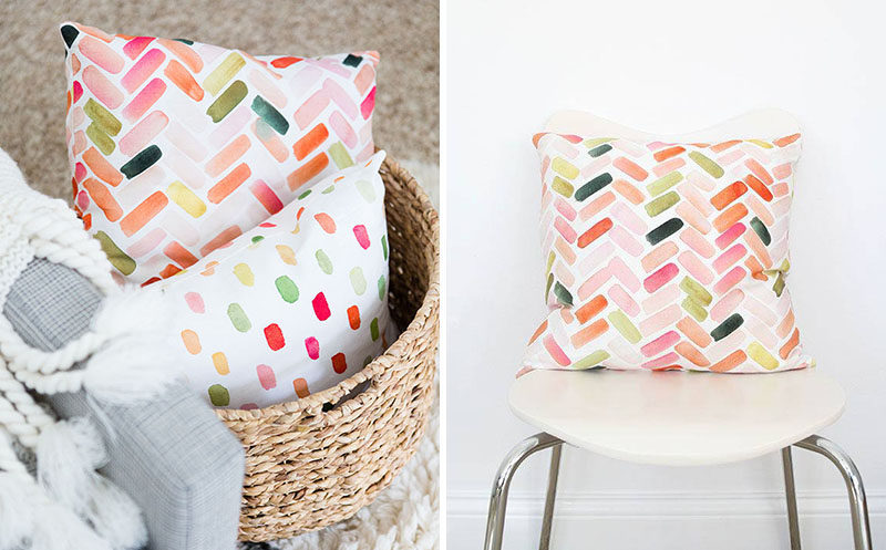 6 Ideas For Including Herringbone Patterns Into Your Interior // Herringbone Pillows