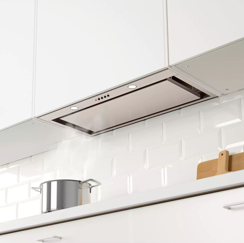 Kitchen Design Idea   Hide The Range Hood // A Fake Cabinet Conceals This  Range Part 75