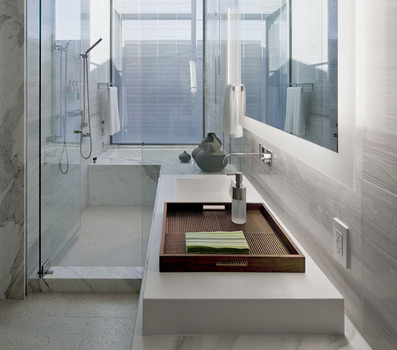Amazing A tray in the guest bathroom is a great way to leave out fresh towels and soap that your guests can use during their stay