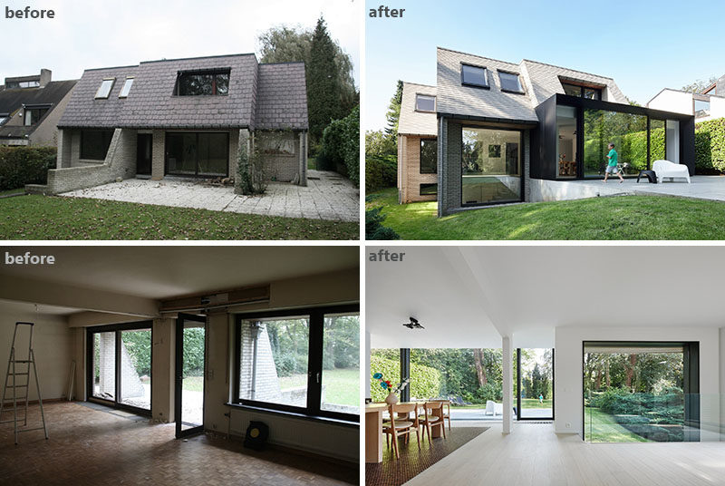 Before After This Family Home Renovation Transformed An Old Dated And Closed