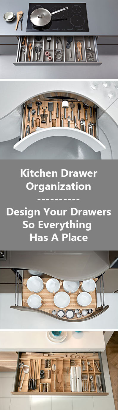 Kitchen Drawer Organization - Design Your Drawers So Everything Has A Place