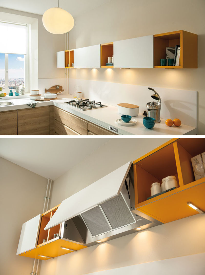 Kitchen Design Idea   Hide The Range Hood // The Door Covering This Range  Hood