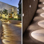 Landscaping Design Idea – Lights Highlight A Decorative Element On A Path